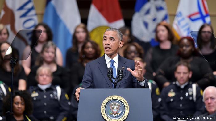 """Obama en Dallas: """"Debemos resistir la desesperación"""""""