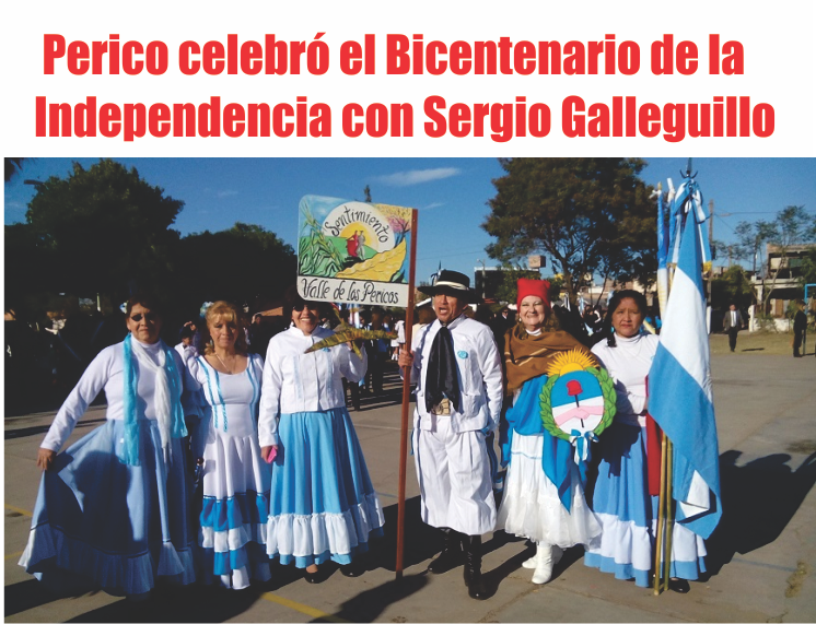 Perico celebró el Bicentenario de la Independencia con Sergio Galleguillo