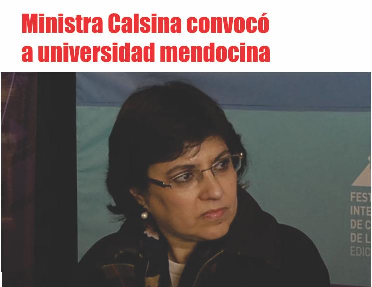 Ministra Calsina convocó a universidad mendocina