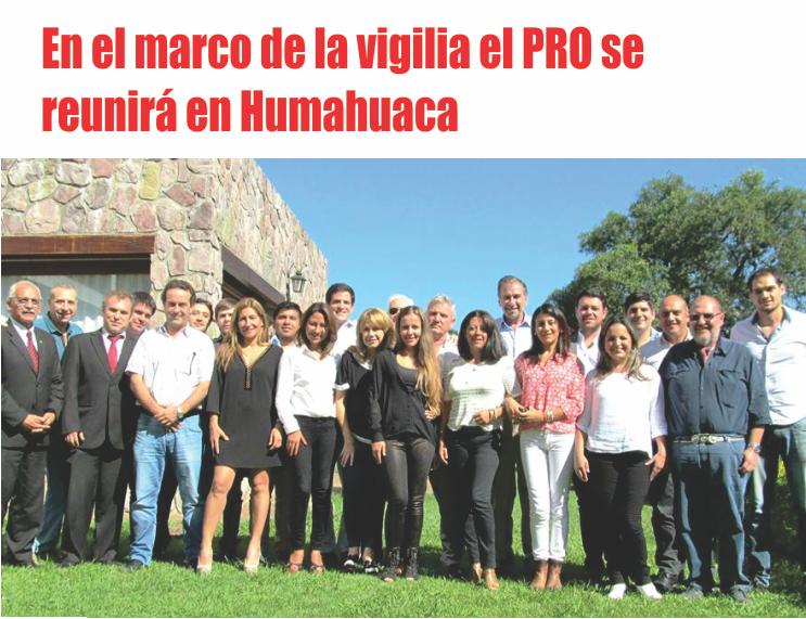 En el marco de la vigilia el PRO se reunirá en Humahuaca