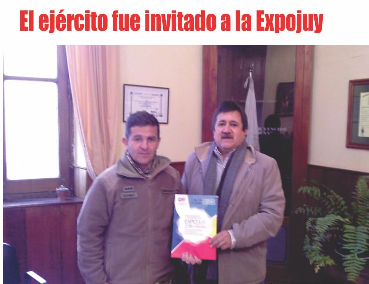 El ejército fue invitado a la Expojuy
