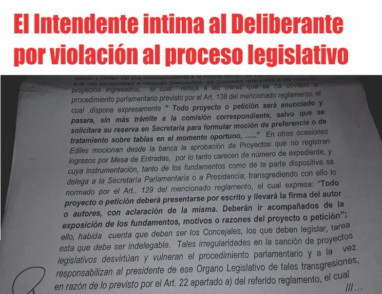 Advertencia por producción legislativa irregular del CD de Perico