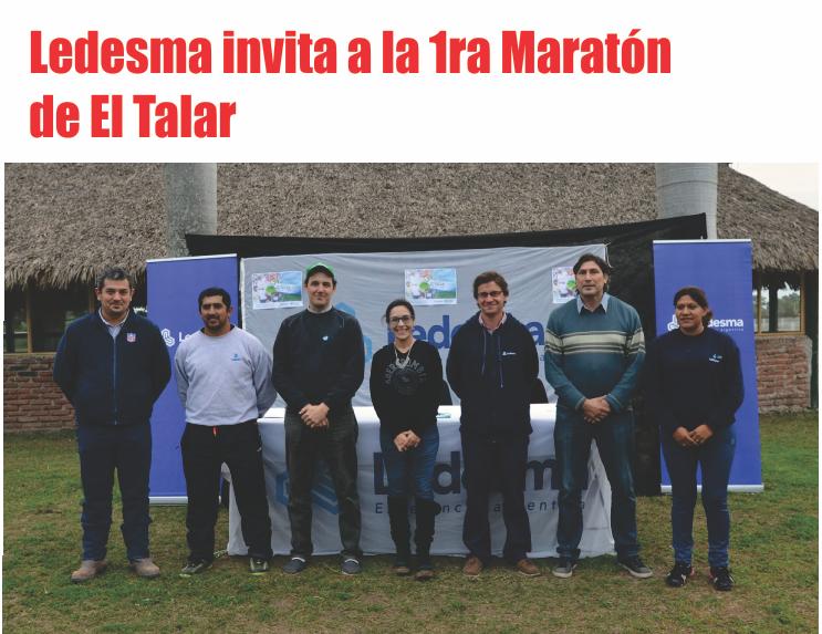 Ledesma invita a la 1ra Maratón de El Talar