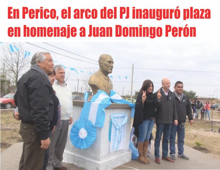 En Perico, el arco del PJ inauguró plaza en homenaje a Juan Domingo Perón