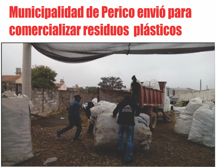 Municipalidad de Perico envió para comercializar una tonelada y media de plásticos