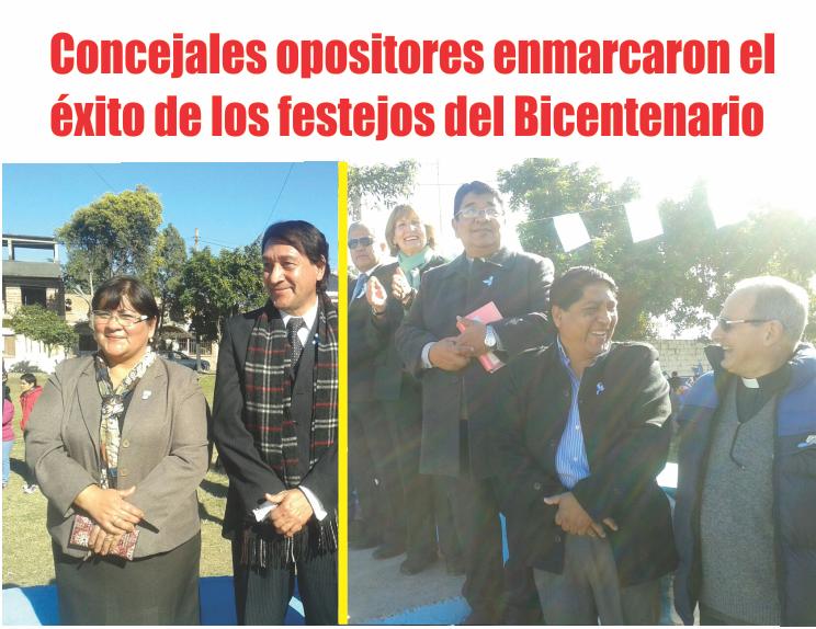 Concejales opositores sellaron el éxito del Bicentenario