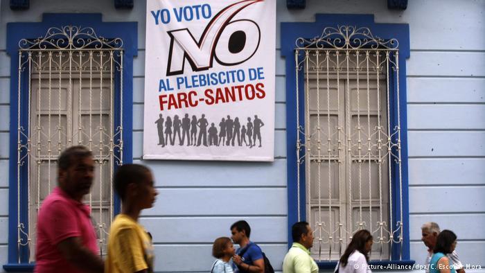 Gana el 'no' al acuerdo de paz en Colombia