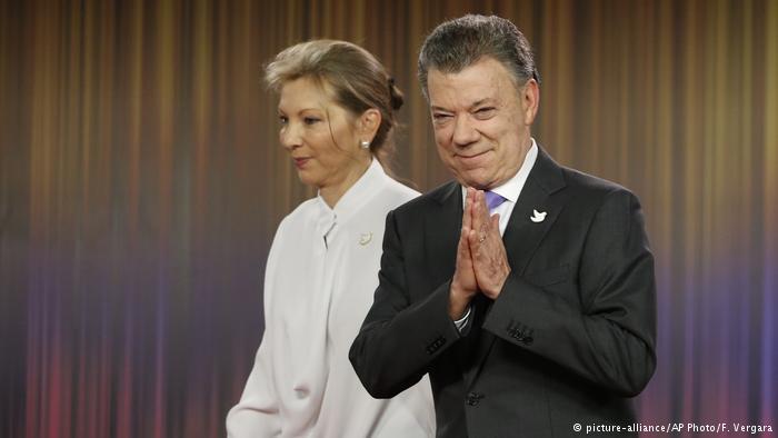 Santos, galardonado con el Premio Nobel de la Paz
