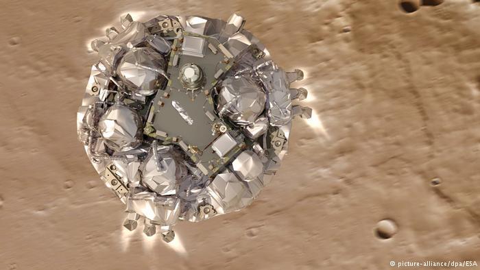 Europa aterrizó exitosamente en Marte con módulo «Shiaparelli»