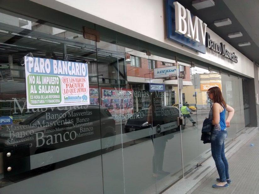Bancarios impedirán apertura de sucursales para consultar sobre el blanqueo