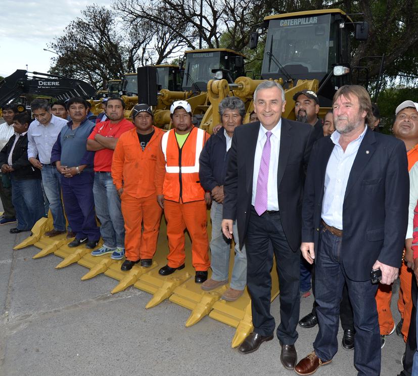 Morales presentó 90 máquinas en un Plan de Modernización para vialidad de Jujuy