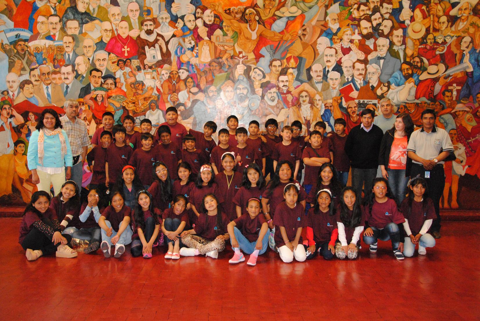 Niños de Mina Aguilar visitaron la legislatura de Jujuy
