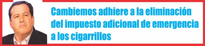 Cambiemos adhiere a la eliminación del impuesto adicional de emergencia a los cigarrillos