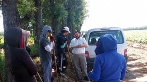 RENATRE relevó trabajadores rurales en Monterrico