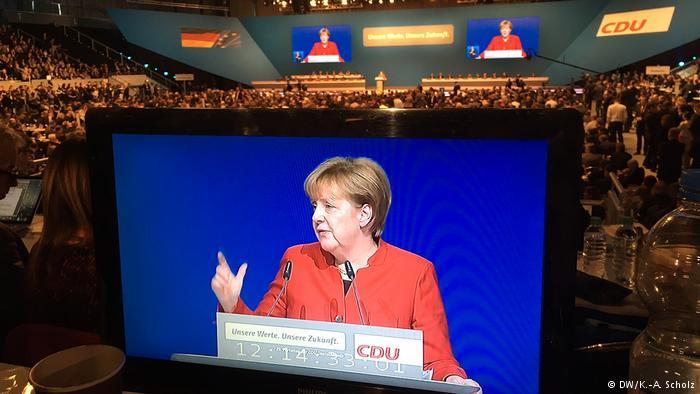 Merkel reelegida jefa de su partido conservador con 89,5 por ciento de votación