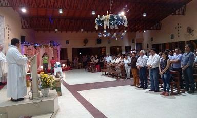 Ficoseco acompañó al personal en la Novena a la Inmaculada Concepción