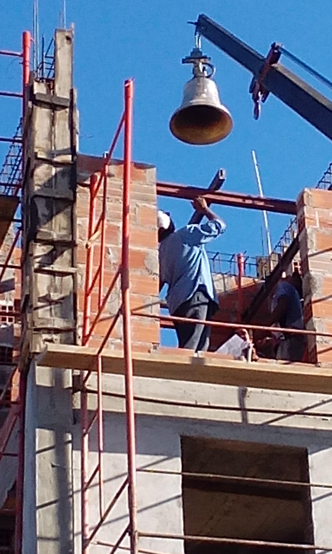 Siguen los trabajos en el campanario para el templo de la Inmaculada Concepción