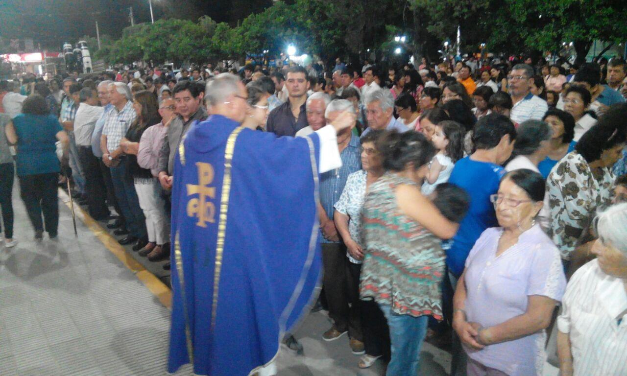 El Intendente Rolando Ficoseco y todo el gabinete acompañaron al Padre Germán Macagno