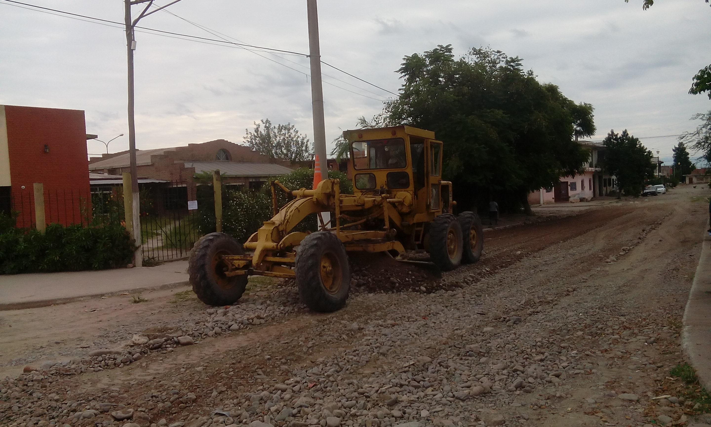 Mejoras en las calles del B° La Paz