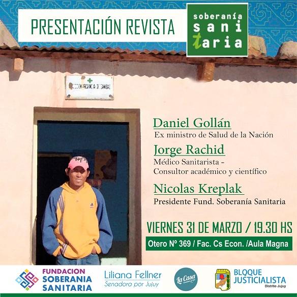 Presentación de revista Soberanía Sanitaria en Jujuy