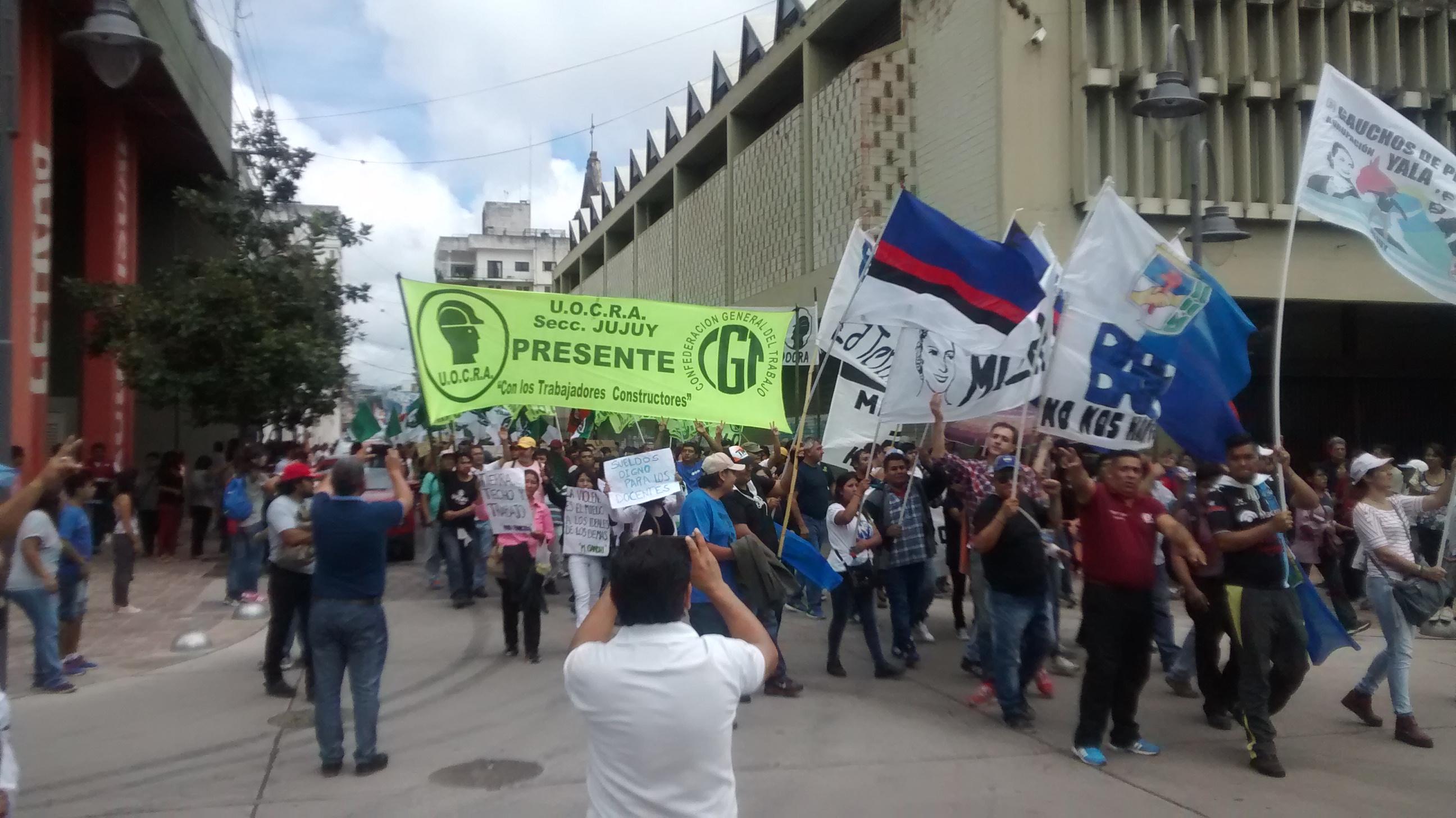 La UOCRA Jujuy participó de la movilización de trabajadores