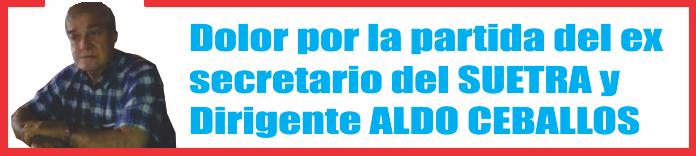 Falleció Aldo Ceballos