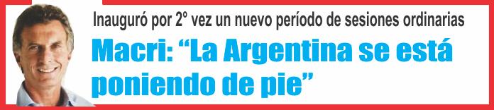 """Macri: """"La Argentina se está poniendo de pie"""""""