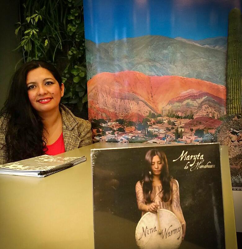 Maryta de Humahuaca emprende gira por Brasil