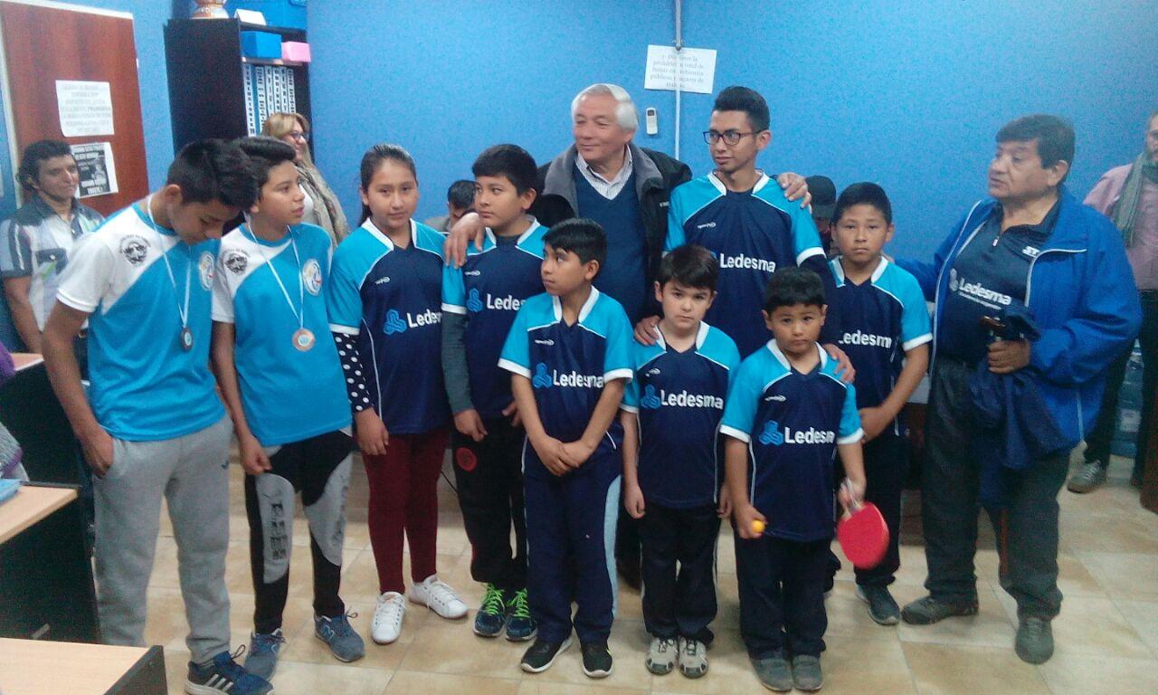 Ficoseco recibió a los integrantes del equipo periqueño de Tenis de Mesa