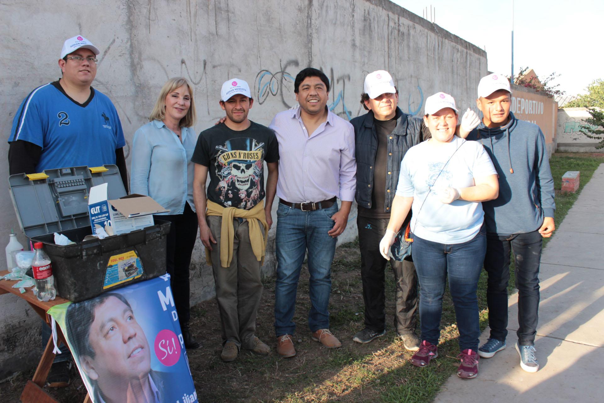 Liliana Fellner y Adrián Mendieta recorren la provincia