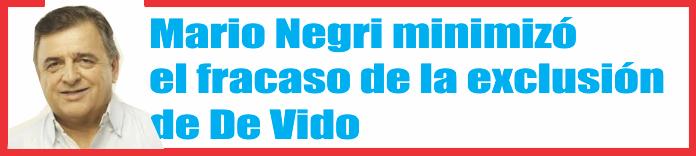 Negri minimizó el fracaso de la exclusión de De Vido