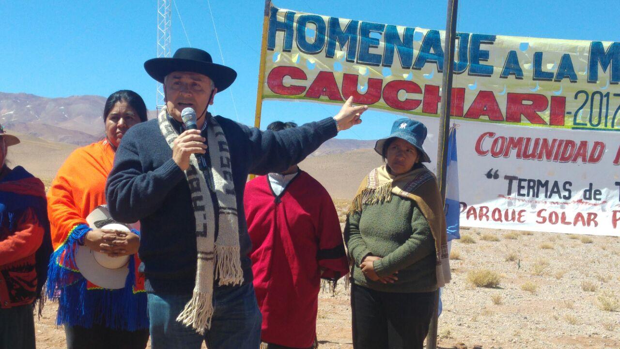 En Cauchari se agradeció a la Pachamama