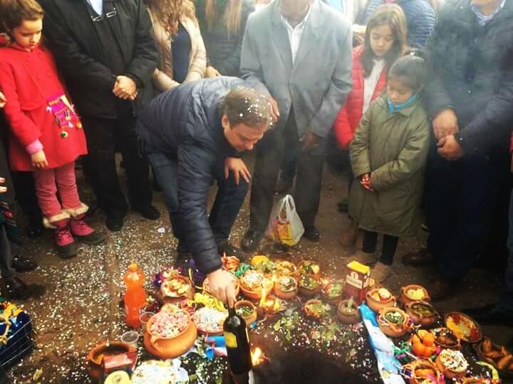 Guillermo Snopek agradeció a la madre tierra y pidió por todos los jujeños