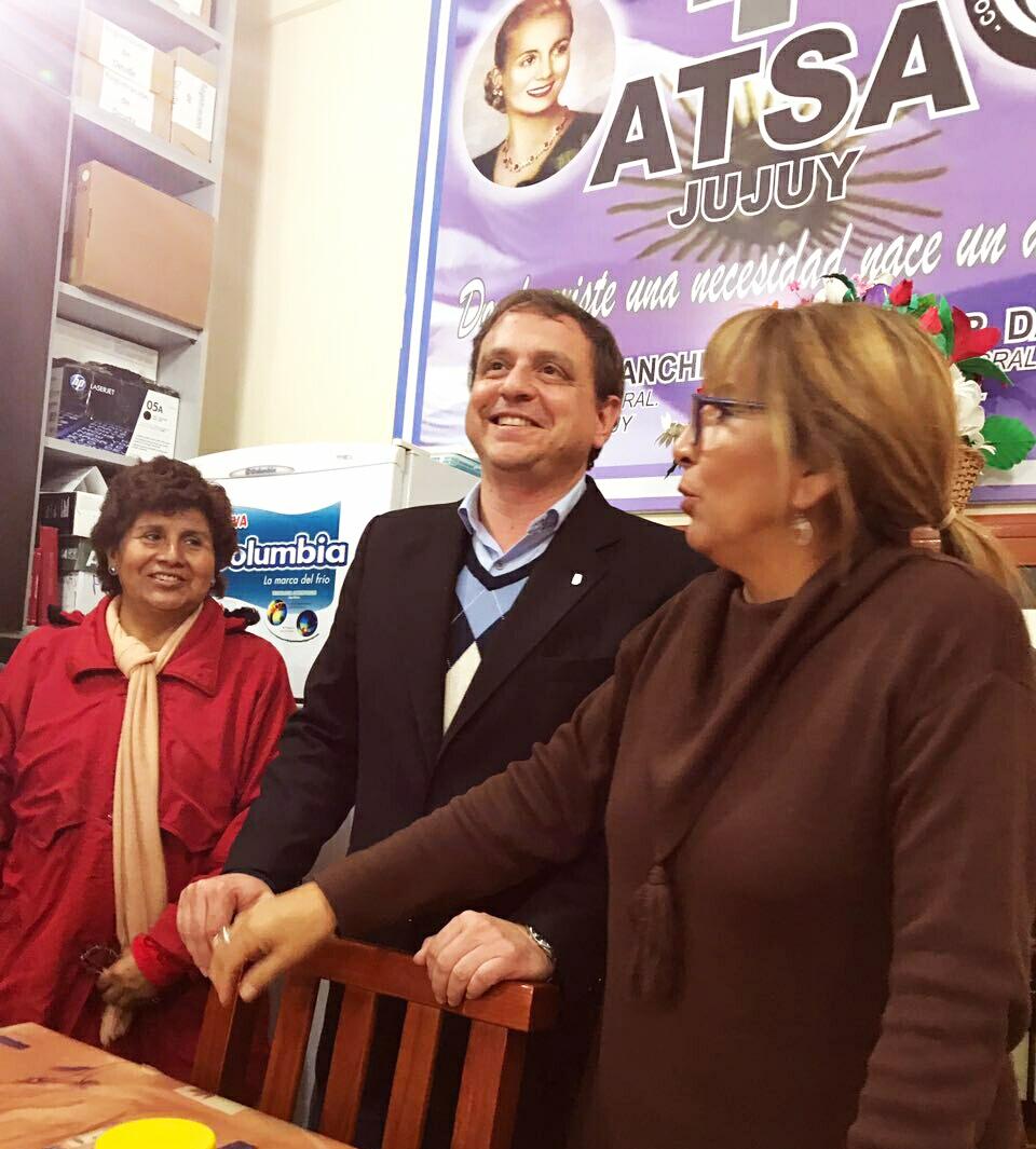 Guillermo Snopek se reunió con ATSA para analizr situación sanitaria