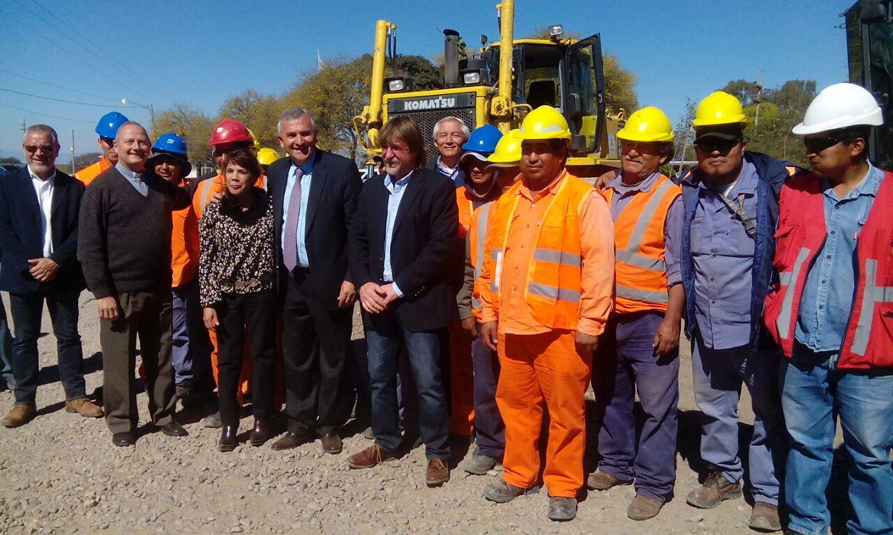 Morales dejó inaugurados los trabajos de construcción de un nuevo acceso vial para la Ciudad de Perico