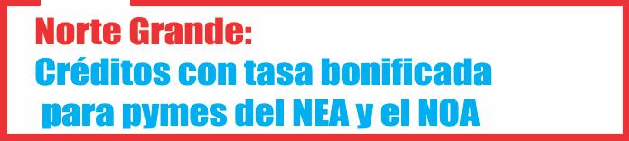 Norte Grande: Créditos con tasa bonificada para pymes del NEA y el NOA