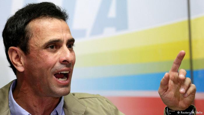 Capriles se retira de la coalición opositora en Venezuela