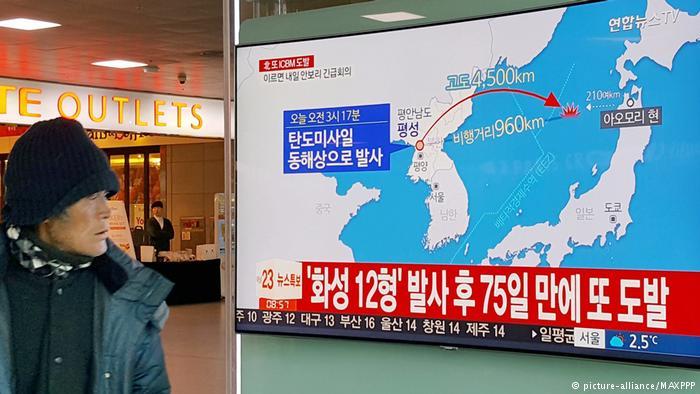 Corea del Sur duda de éxito de nuevo test de misil norcoreano