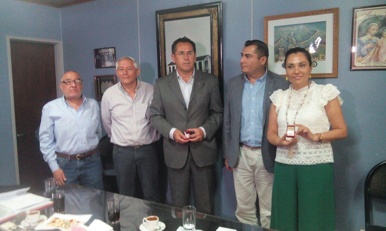 Ejecutivos de Zona Franca de Iquique Chile visitaron el Parque Industrial de Perico