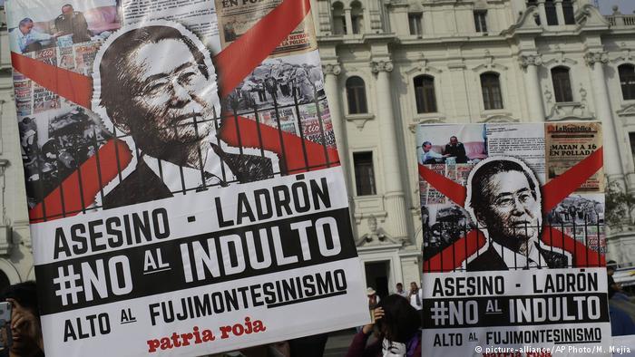 Protestas en Perú contra el indulto a Fujimori