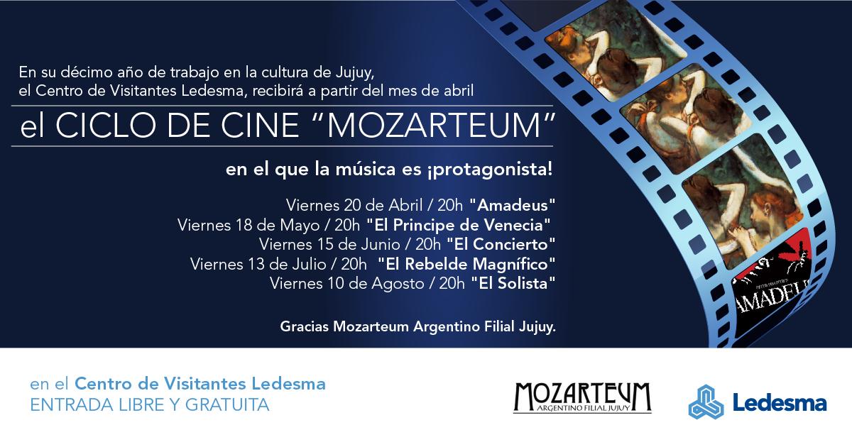 """El ciclo de cine """"Mozarteum"""" desembarca en  el Centro de Visitantes Ledesma"""