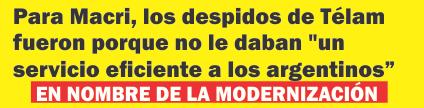Para Macri, los despidos de Télam fueron porque no le daban «un servicio eficiente a los argentinos»