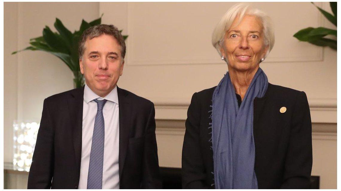 Advertencia de Lagarde a Dujovne: «Las metas de inflación del FMI deben ser alcanzadas»