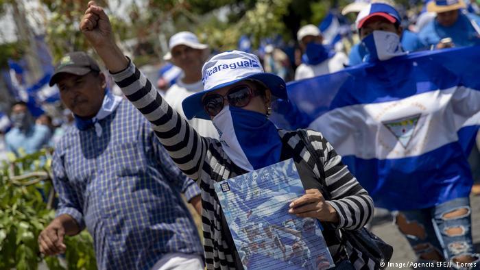 Violentos incidentes en marcha opositora en Nicaragua
