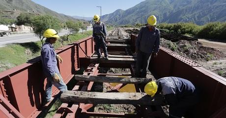 Terminaron los primeros 10 kilómetros del vías del tren Jujuy-La Quiaca