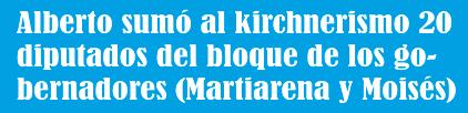 Alberto sumó al kirchnerismo 20 diputados del bloque de los gobernadores