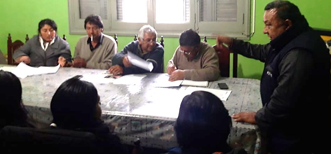 Trabajadores rurales eligieron autoridades de la junta electoral