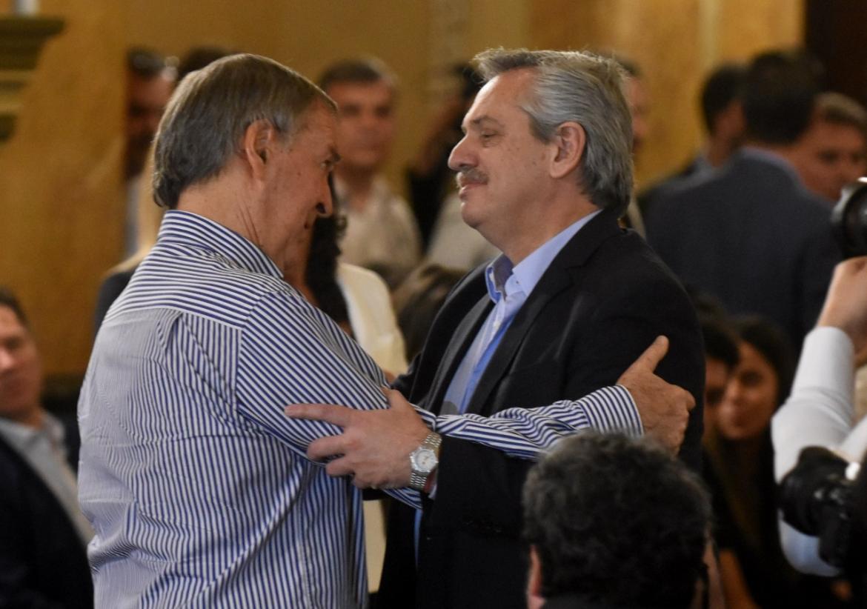 Alberto Fernández, Sergio Massa y Juan Schiaretti en la misa homenaje a De la Sota