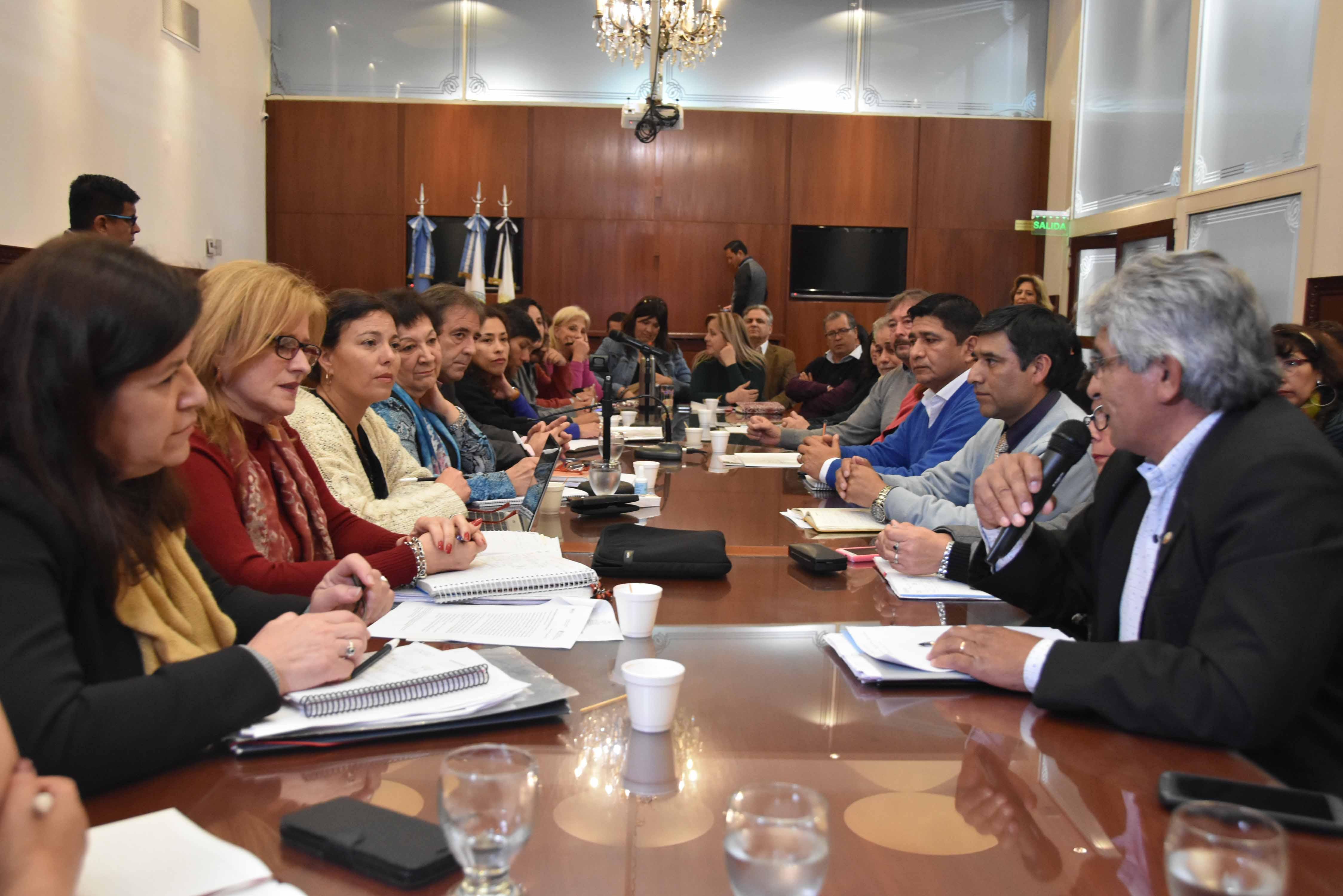 La Comisión de Educación recibió a representantes de los IES