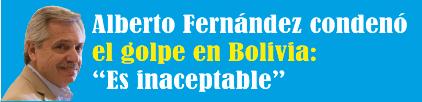 """Alberto Fernández condenó el golpe en Bolivia: """"Es inaceptable"""""""